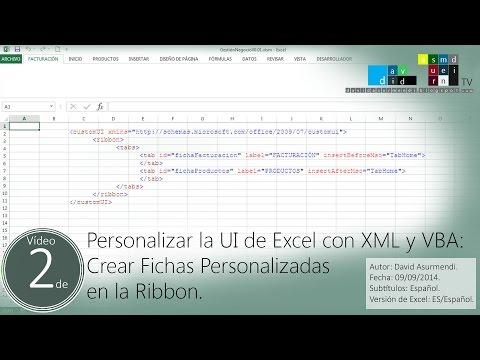 Crear Fichas Personalizadas en la Ribbon de Excel usando XML y el Office Custom UI Editor.