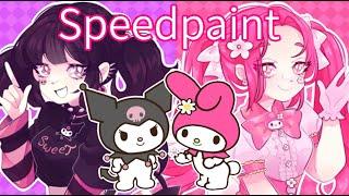 ☠ クロミ ✿ マイメロディ (Kuromi & My Melody SpeedPaint)