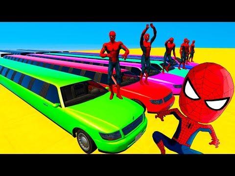 Мультфильм про человека паука и машинки смотреть