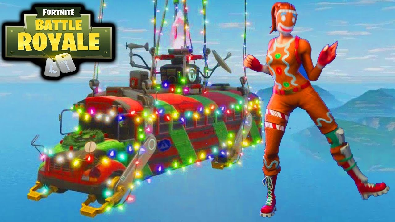 Fortnite Christmas.Fortnite Christmas Update Gameplay Gingerbread Man Outfit New Dance Emotes