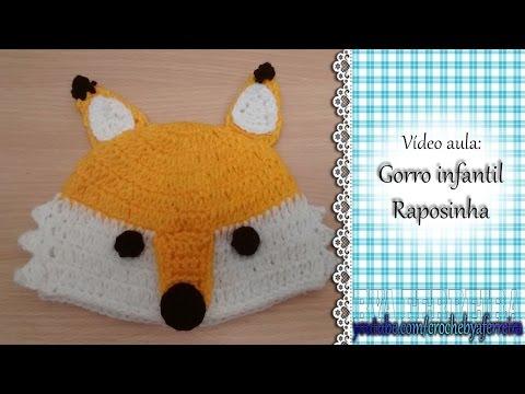 Vídeo aula Gorro infantil Raposinha (CORRIGIDO)  37bd370727e