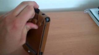 Leather PDA Case Dual Design for HTC ThunderBolt
