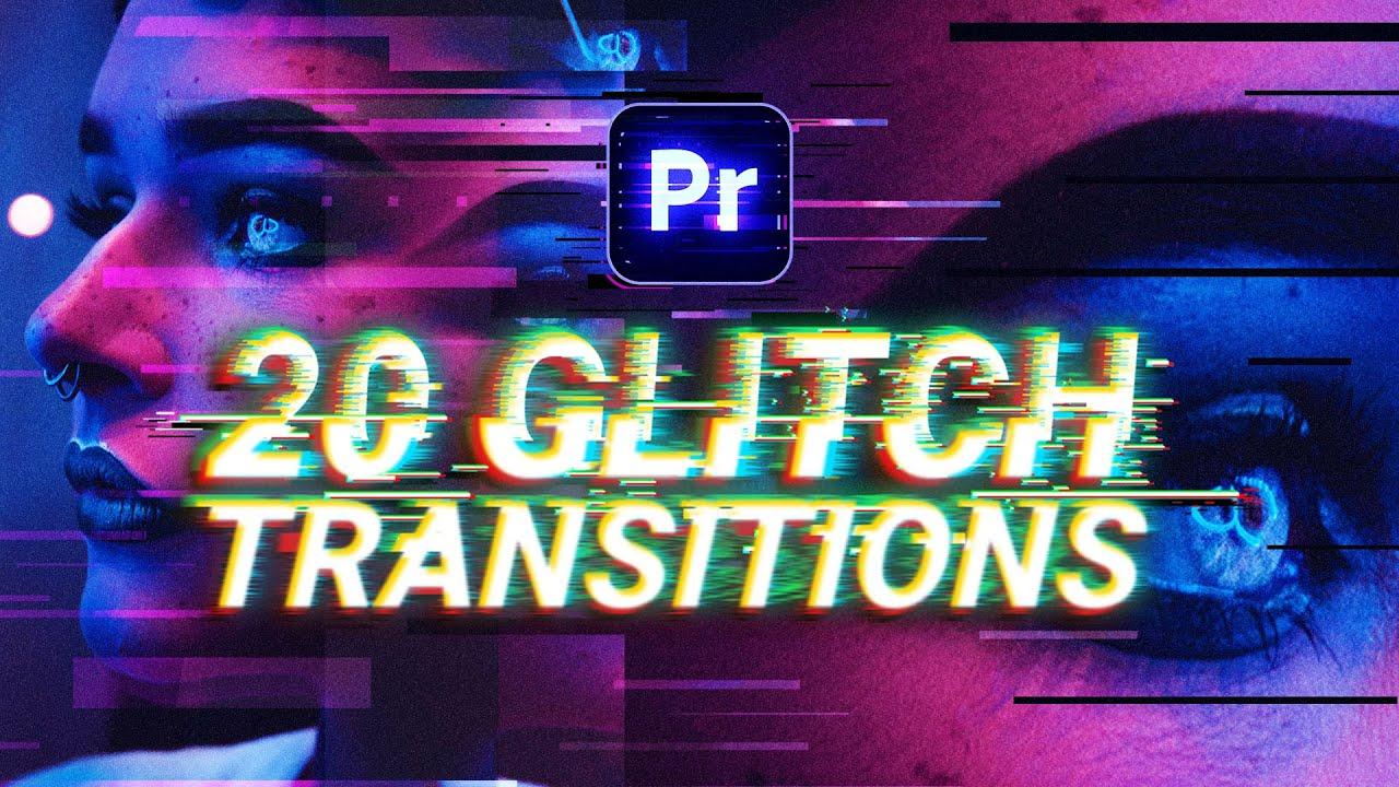 free glitch transitions for premiere pro