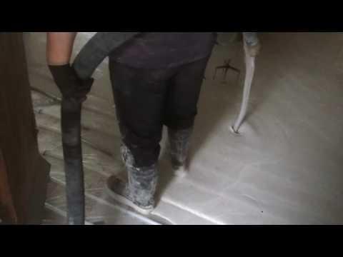 Floor Screed with under floor heating