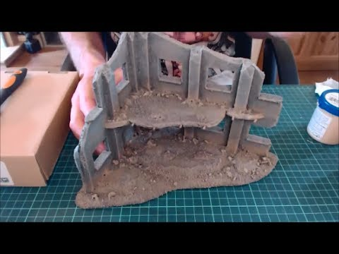 How to easily paint foamboard buildings & ruins