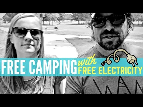 FREE CAMPING with FREE ELECTRIC 🔌💡 Lewis Park in Wheatland, Wyoming 🚐💨 RV Living Full Time