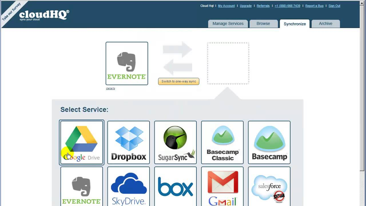 Evernote Google Drive - Sync and Integrate - cloudHQ