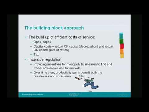 Regulating natural monopolies - from building blocks to reasonable returns