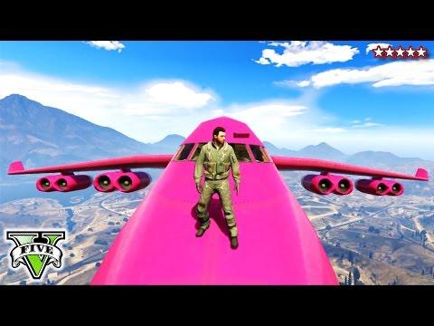 GTA 5 PINK CARGO PLANE!!! - GTA Extreme Jet Stunts - Cargo Plane on GTA 5 Online