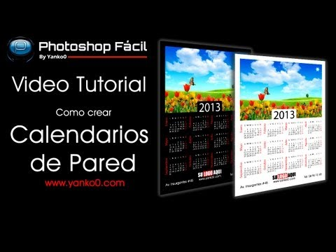 Calendario de Pared Videotutorial Photoshop by @yanko0