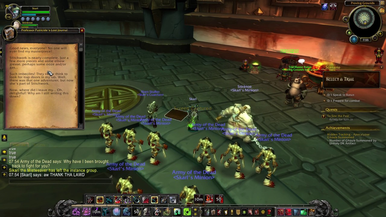 Unholy Dk Hidden Artifact Skin Grind In Proving Grounds 71 Youtube