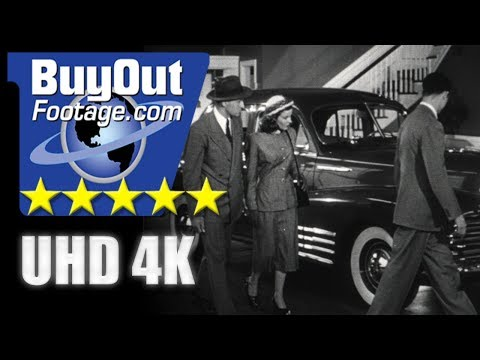USA 1940s: Auto Dealership and Showroom | Couple Buying a New Car
