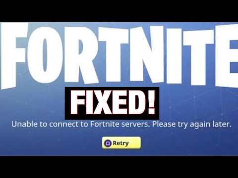 unable to login to fortnite servers pc
