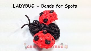 Rainbow Loom Band 3d Cute Ladybug With Bands Advanced Charm Tutorials By Crafty Ladybug /how To Diy