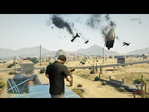 GTA 5 - Michael's Five Star TRAIN RAMPAGE!!