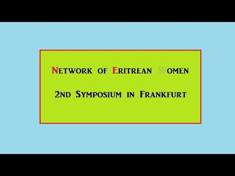Network of Eritrean Women 2nd Symposium in Frankfurt