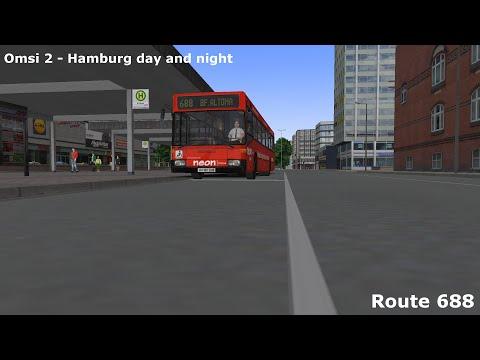 Omsi 2 Hamburg day and night route 688
