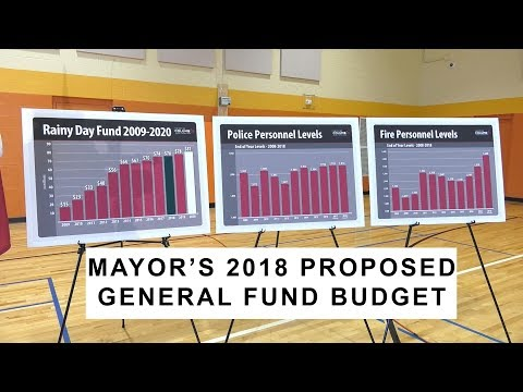 Press Conference: Mayor's 2018 Proposed General Fund Budget