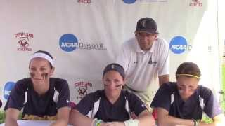 Neumann Day 2 - NCAA Softball Championship Cortland Regional Press Conference 5/9/15