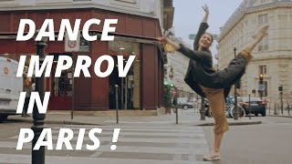 SHE IMPROVISES A DANCE IN THE STREETS OF PARIS TO BREAK HER MORNING ROUTINE!