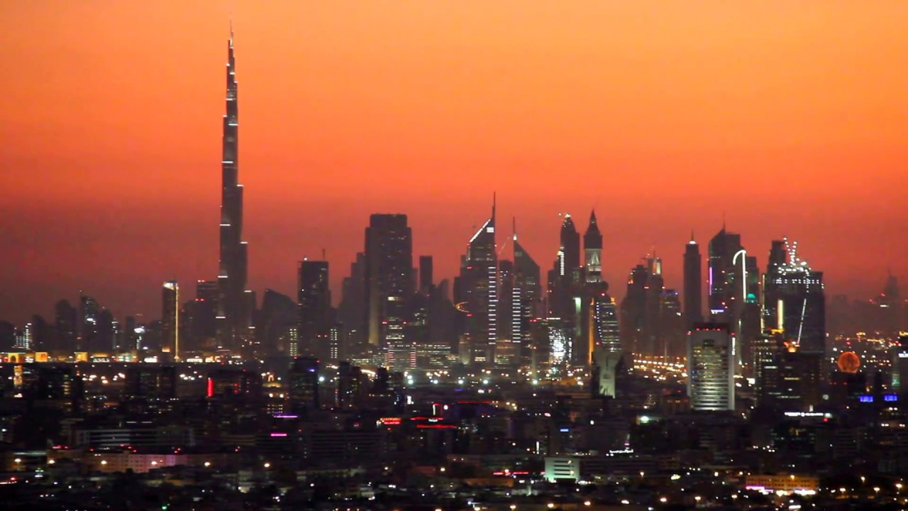 Dubai Skyline At Sunset 15 12 2011 By Hussein Kefel Youtube