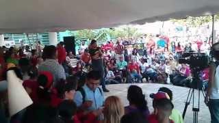 Situacion Municipio Palavecino a Vice Presidente Jorge Arreaza en Gobierno de Calle Estado Lara
