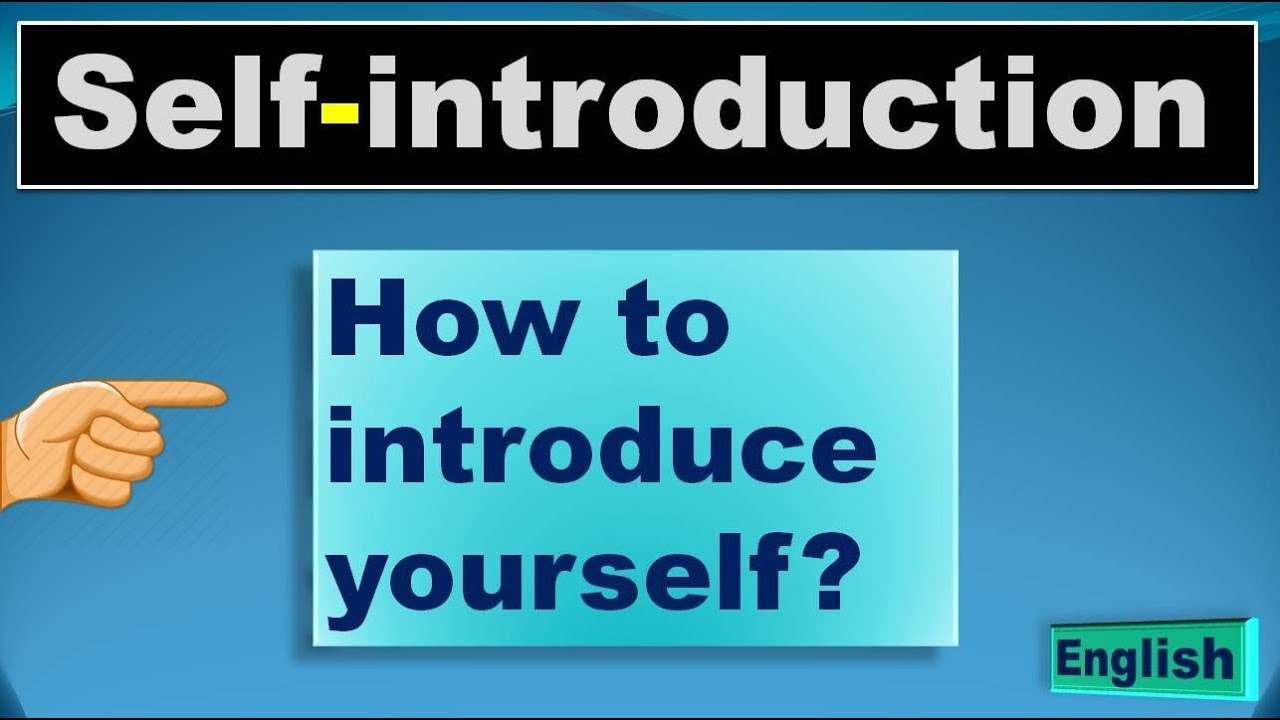 Self Introduction How To Introduce Yourself अपन पर चय क स द Youtube