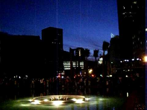 Countdown to turning on the Adderley Street Lights in Cape Town CBD