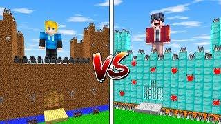 ЗАМОК НУБА против ЗАМОК ПРО в МАЙНКРАФТ! ~ Битва Замков в Майнкрафте - Троллинг нуб и про Minecraft