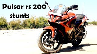 PULSAR rs 200 || hardcore STUNTS || REVIEW top SPEED