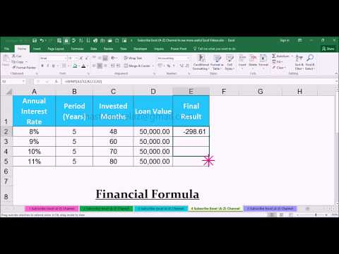 ISPMT Financial Function with Example in MS Office Excel Spreadsheet 2016