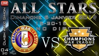 Guerre All Star FWL vs CWL - 15/20/15 en NO DIP sur 24h