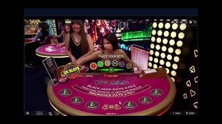 Live Online Blackjack #3. £300 starting stack with 7 minutes play...