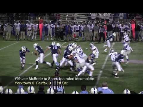 2013 Fairfax vs Yorktown Division 6 Playoff Football Highlights