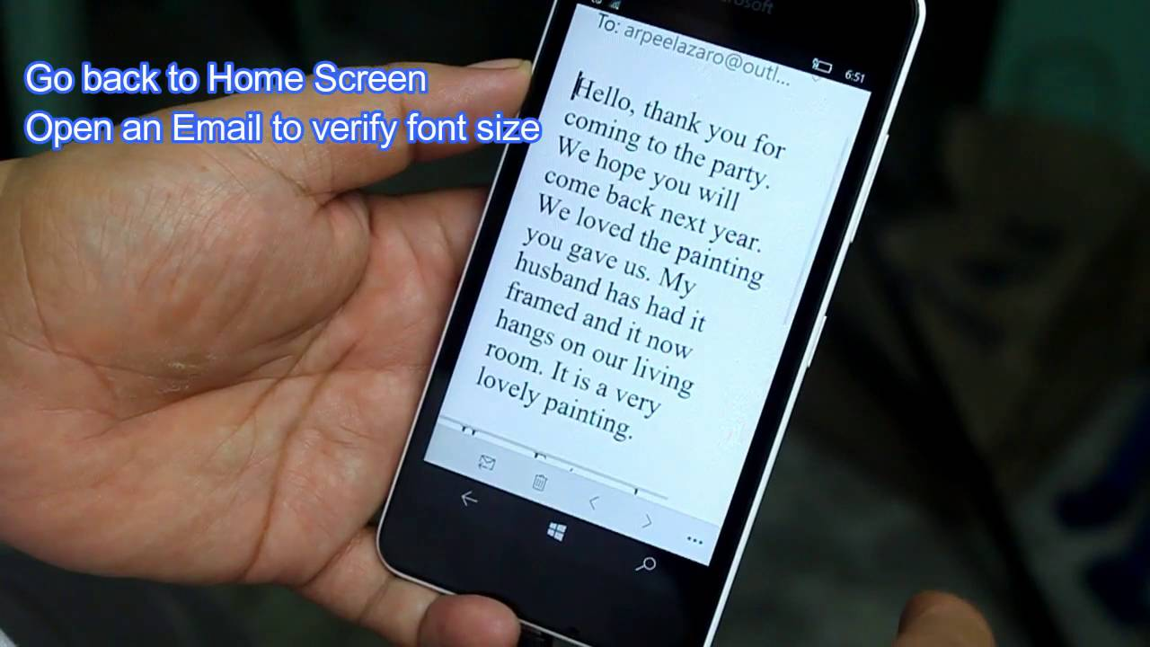lumia 550 how to increase font size youtube