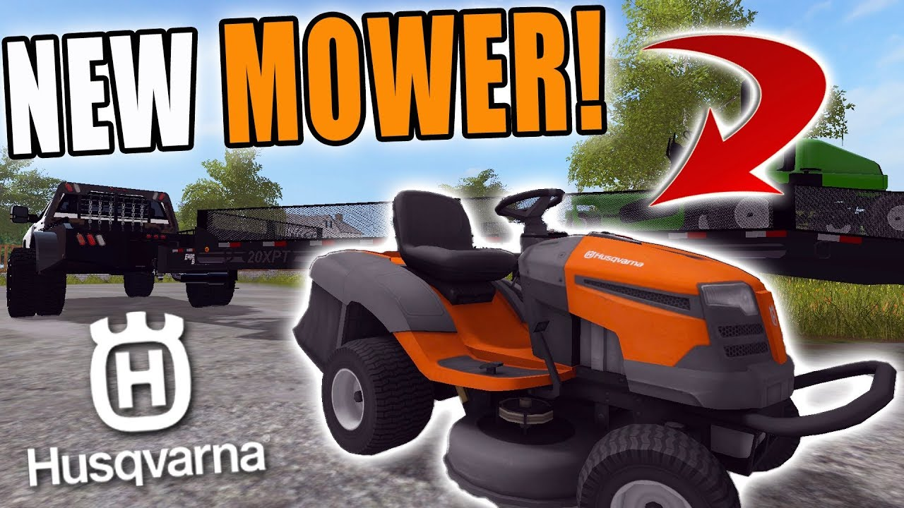 NEW MOWER SET UP! | HUSQVARNA RIDER | MOWING BUIS | FARMING SIMULATOR 2017 #1