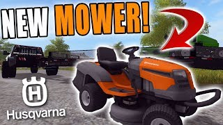 NEW MOWER SET UP! | HUSQVARNA RIDER | MOWING BUIS | FARMING SIMULATOR 2017