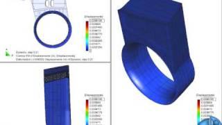 Deformación tobera - Ducted propeller deformation