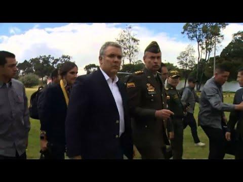 AFP: Attentat à Bogota: le président arrive sur place