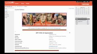 Clemson ART 2100 Online Canvas Course Introduction
