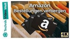 Amazon Bestellungen verbergen und archivieren