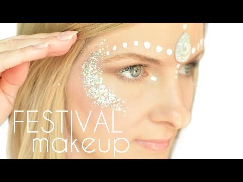 Easy Festival Glitter Makeup Face Paint