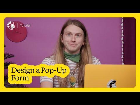 Design and Edit a Pop-Up Form in Mailchimp (October 2020)