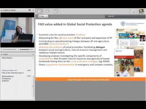 FAO webinar on resilience #4 – Shock-responsive social protection for resilience building