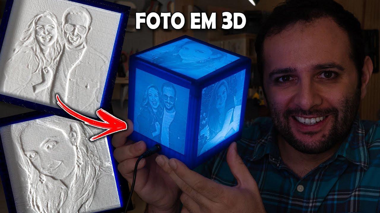 Como Imprimir Uma Foto Em 3d Youtube