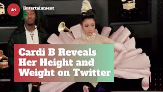 Cardi B Opens Up On Her Weight And Height