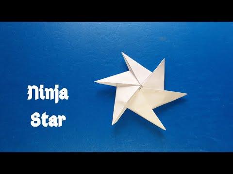 নিনজা স্টার || How to make a Ninja Star (Origami) || Tutorial #250