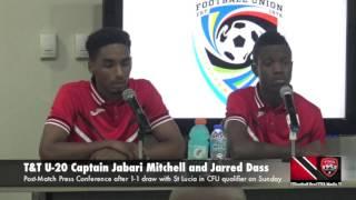 Jabari Mitchell and Jarred Dass on 1-1 draw with St Lucia