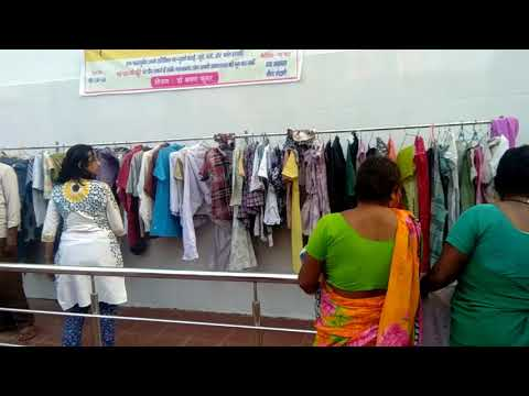 Help desk for poors distributing clothes.By new born care centre.via Dr shravan  and neena