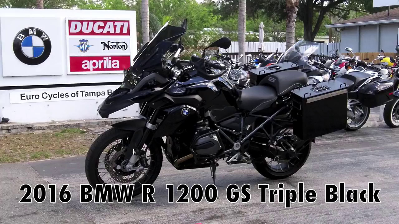 pre-owned 2016 bmw r 1200 gs triple black at euro cycles of tampa